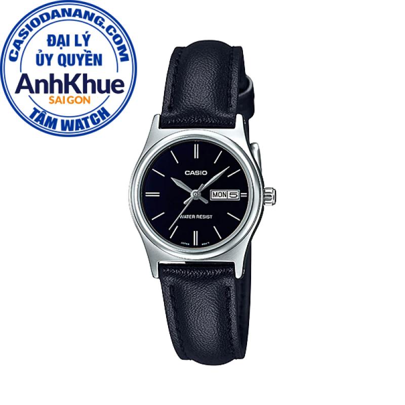 Đồng hồ nữ dây da Casio Standard chính hãng Anh Khuê LTP-V006L-1B2UDF (25mm)