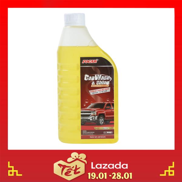[SIÊU ĐẬM ĐẶC] Bọt rửa xe, dung dịch rửa xe, Bọt tuyết rửa xe FOCAR Car Wash Shine sáng bóng 850ml - Nước rửa xe đậm đặc, bọt tuyết rửa xe ô tô xe máy tỷ lệ 1:120
