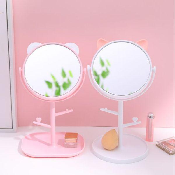 Gương để bàn - Gương trang điểm tai mèo