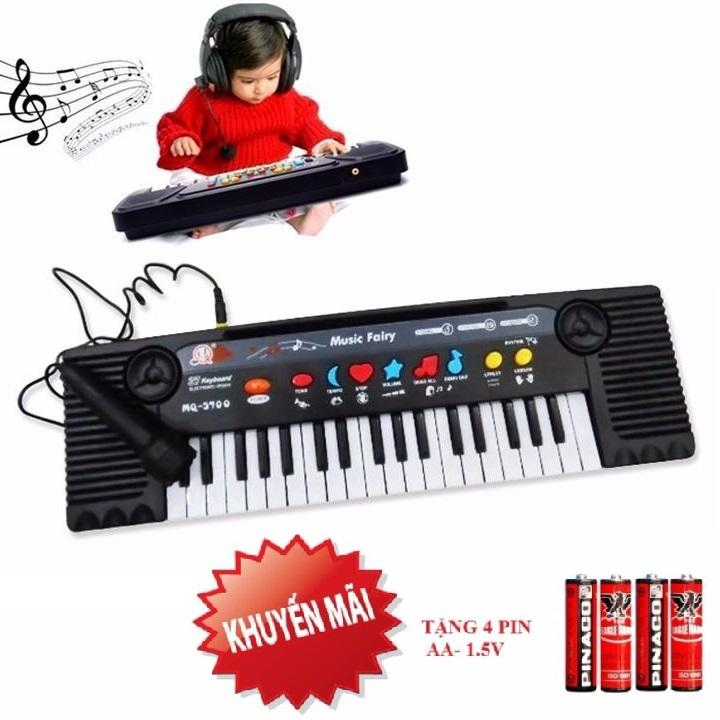 Đồ Chơi - Đàn organ MQ 3700 có tặng kèm mic và 4 viên pin cho bé - quà tặng cho bé