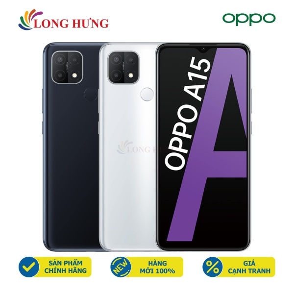 Điện thoại Oppo A15 (3GB/32GB) - Hàng chính hãng - Màn hình 6.52inch HD+, bộ 3 Camera sau, Pin 4230mAh, Cảm biến vân tay nằm ở mặt lưng