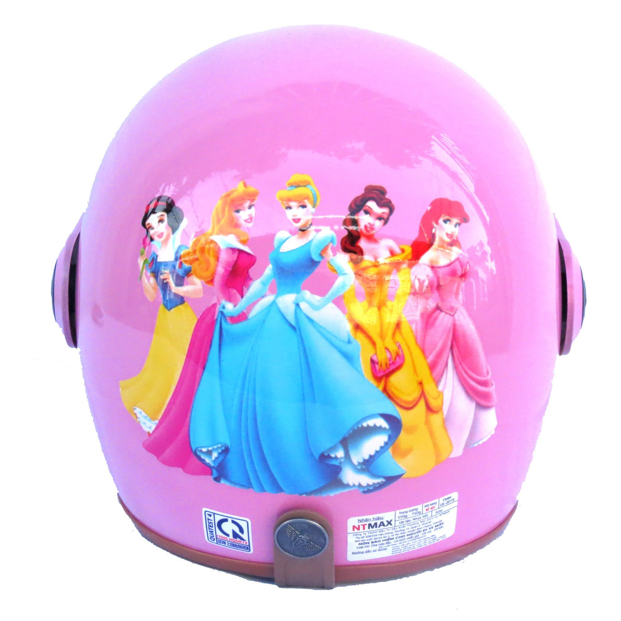 Giá bán Mũ bảo hiểm NTMAX 3/4 trẻ em có kính chắn gió (6-14 tuổi) tem hoạt hình siêu cute