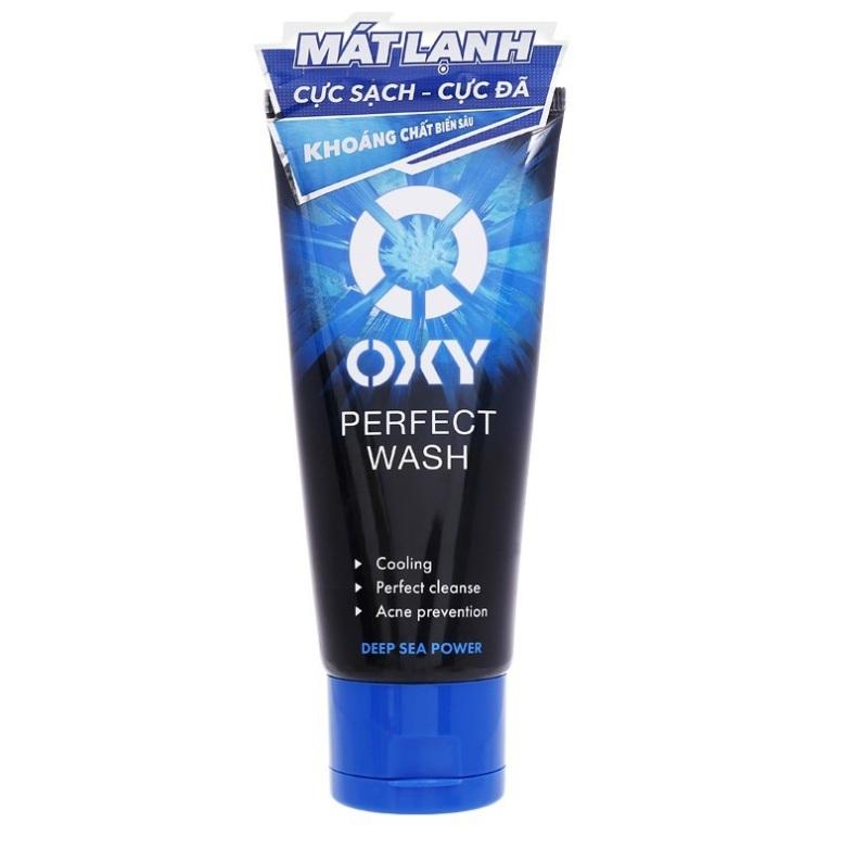 Sữa rửa mặt sạch bã nhờn ngừa mụn nam OXY Perfect Wash 100g