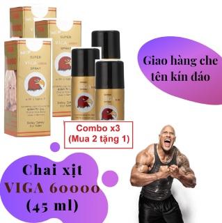 Combo x3 (Mua 2 tặng 1) (Công thức siêu đậm đặc) Chai xịt VIGA 60000 cao cấp (45ml) - hàng chính hãng thumbnail