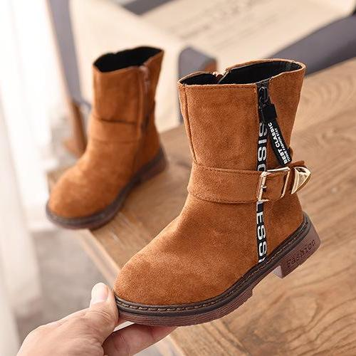 Giá bán giày bốt Bé Gái Size 27-37 da lộn mềm mịn