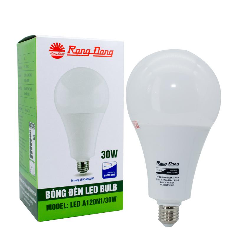 Bóng đèn LED Bulb tròn A120N1 - 30w chính hãng Rạng Đông chip LED SS chất lượng ánh sáng hoàn hảo bảo vệ thị lực