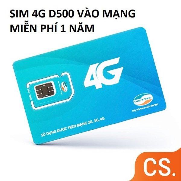 Sim 4G Viettel D500 Trọn Gói 1 Năm, Mỗi Tháng có 5GB DATA tốc độ cao, Không Cần Nạp Tiền Hàng Tháng