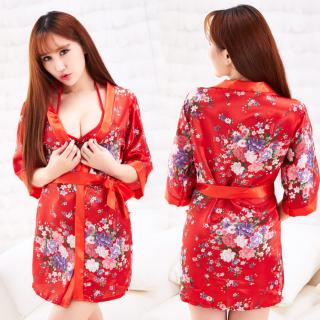 Áo choàng tắm Kimono sexy kèm đồ lót thumbnail