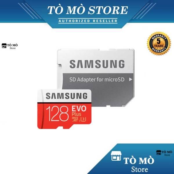 Thẻ nhớ MicroSD Samsung Evo Plus 128GB 4K U3 + Adapter - Bảo hành 5 năm