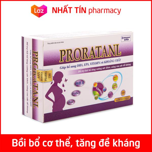 Vitamin tổng hợp Proratanl bổ sung DHA, EPA, khoáng chất, tăng cường sức khỏe cho phụ nữ mang thai và cho con bú - Hộp 30 viên