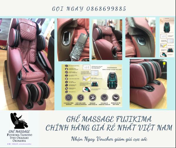 [ CÔNG NGHỆ 5D, HOT 2021] Ghế massage liên động tự động massage toàn thân thời thượng quý phái trị liệu Nhật Bản FUJIKIMA FJ-1100GLX