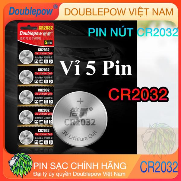 Pin nút CR 2032 3V 220mAh dung lượng cao Doublepow - Pin đồng hồ kỹ thuật số, chìa khóa xe, bút laser, thiết bị thể dục và các thiết bị y tế
