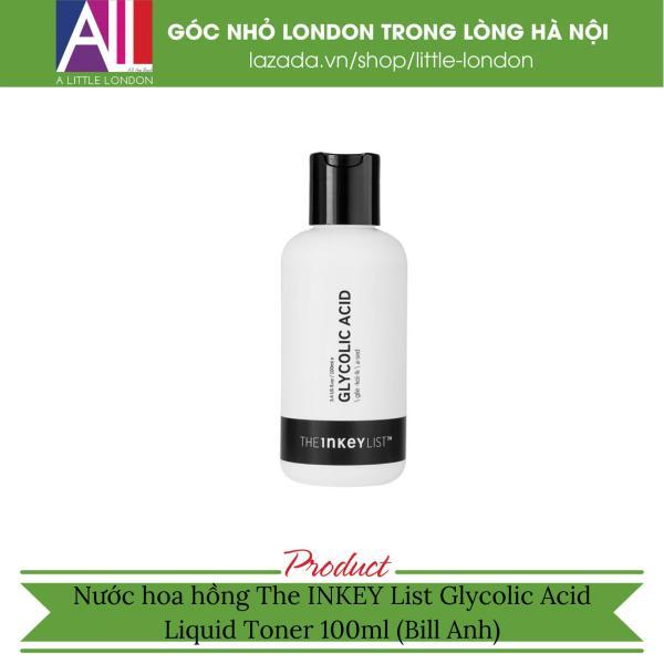 Nước hoa hồng The Inkey List Glycolic Acid Liquid Toner - 100ml (Bill Anh)