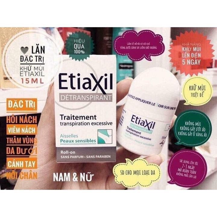 Lăn Khử Mùi ETIAXIL Pháp 15ML nhập khẩu