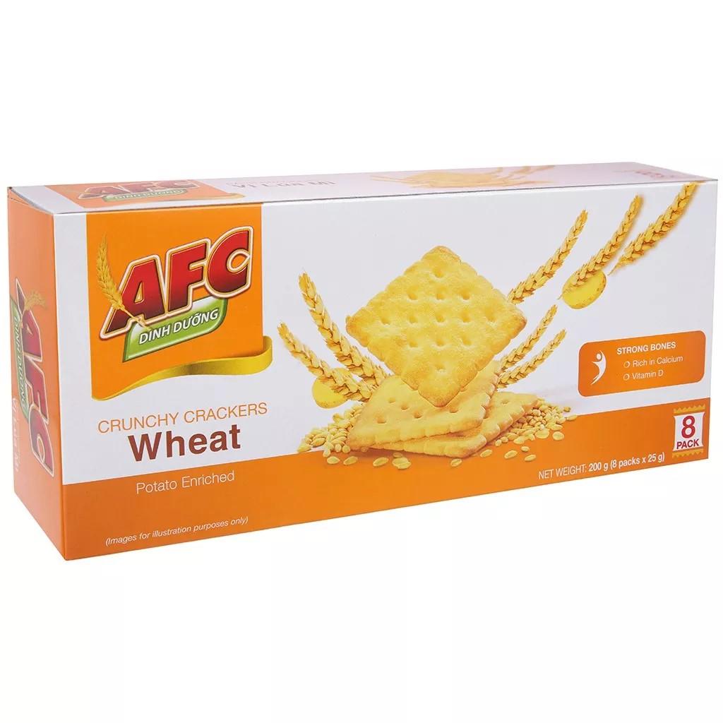 Bánh quy dinh dưỡng lúa mì AFC hộp 200g hsd 2021