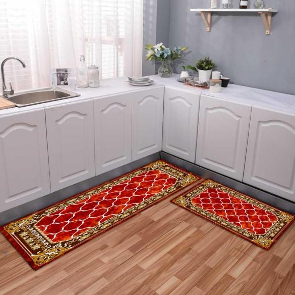Thảm trang trí nhà bếp, phòng khách Bộ 2 chiếc Thảm Nhà Bếp Cao Cấp ( 1 Dài + 1 Ngắn) bà béo Bedding mẫu 2020