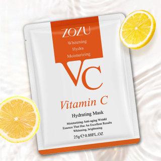 01 Miếng Mặt nạ dưỡng ẩm VC dưỡng ẩm chăm sóc da tinh chất Vitamin C hữu cơ thumbnail