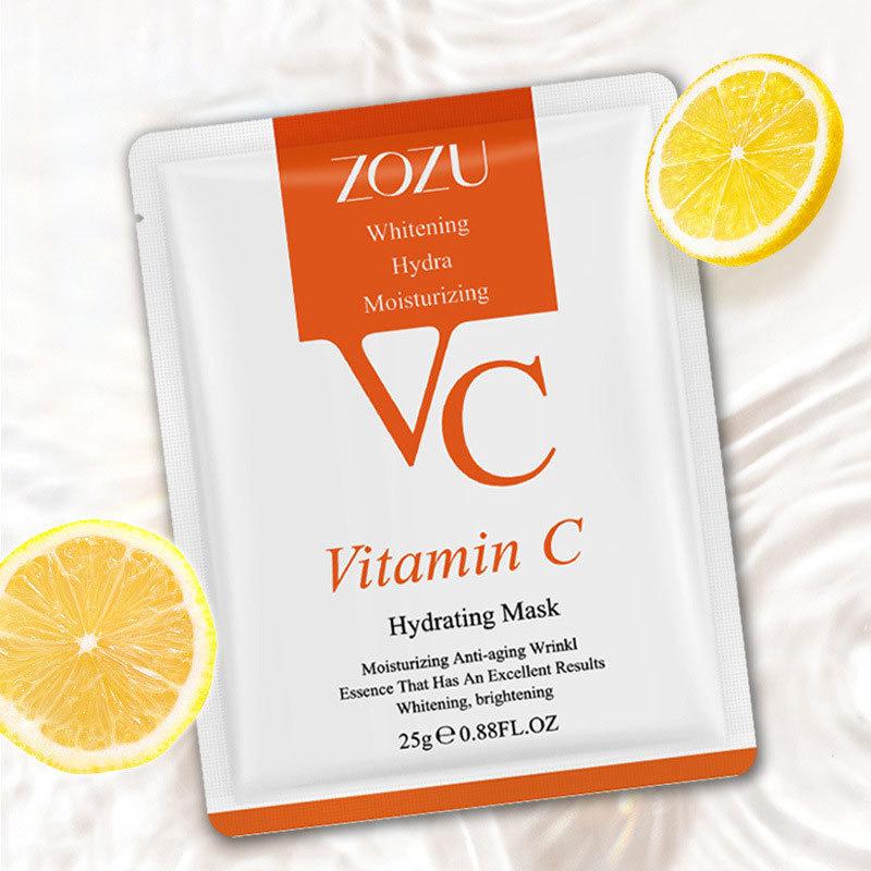 01 Miếng Mặt nạ dưỡng ẩm VC dưỡng ẩm chăm sóc da tinh chất Vitamin C hữu cơ nhập khẩu