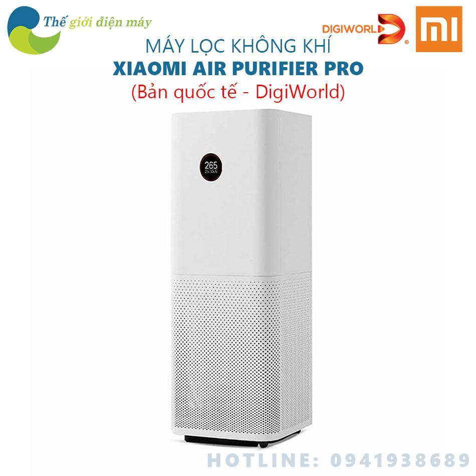 Bảng giá [Bản quốc tế] Máy lọc không khí Mi Air Purifier Pro - Phân phối bởi DigiWorld - Shop Thế giới điện máy