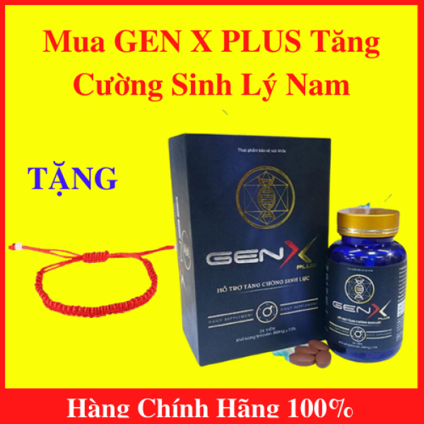 Gen X Plus - Viên uống tăng cường sinh lý nam - Hộp 24 viên - TẶNG kèm vòng tay phong thủy xịn xò tốt nhất