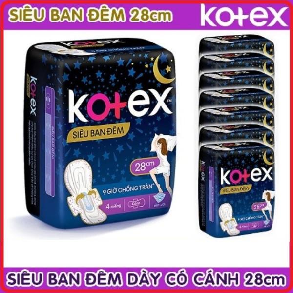 Băng vệ sinh Kotex siêu ban đêm 28cm ( Gói 4 miếng ) Tặng thêm 2 Miếng - cam kết hàng đúng mô tả chất lượng đảm bảo an toàn đến sức khỏe người sử dụng đa dạng mẫu mã màu sắc kích cỡ