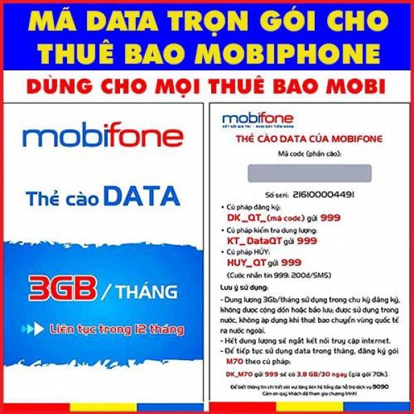 Thẻ DATA 4G Mobiphone Trọn Gói 1 Năm Không Cần Nạp Tiền dùng cho các thuê bao mobiphone