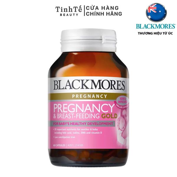 Thực Phẩm Bảo Vệ Sức Khỏe Blackmores Pregnancy & Breast-Feeding Gold Cung Cấp Vitamin Cho Phụ Nữ Mang Thai 60 viên
