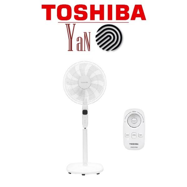 Quạt cây đứng 9 cánh Inveter có remote điều khiển từ xa màu trắng Toshiba F-LSD10(W)VN 30W - Hàng chính hãng