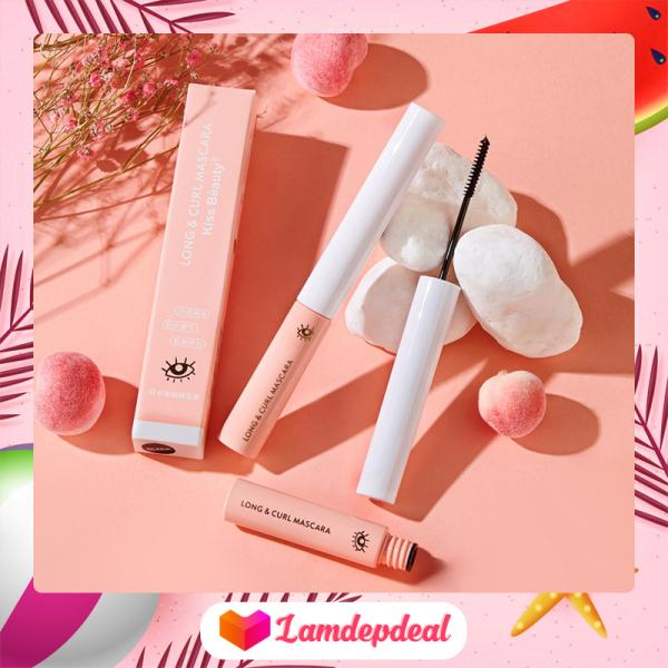 ♥ Lamdepdeal - Mascara KISS BEAUTY Long and Curl 5ml - Mascara không trôi không lem, đầu cọ siêu mảnh tơi mi - Chuốt mi dài và cong hơn.