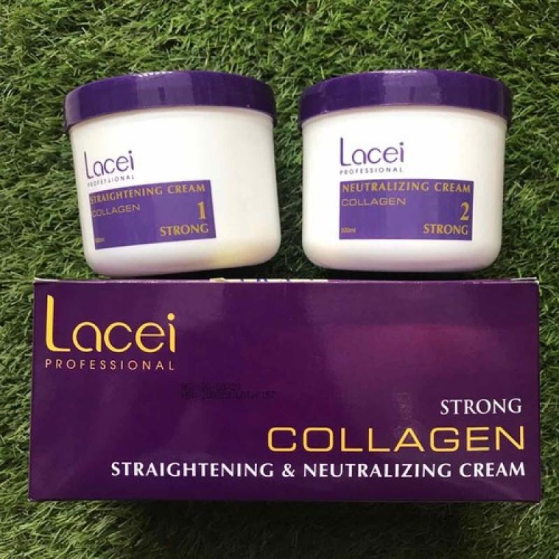 [HCM]Duỗi tóc không kẹp nhiệt siêu bóng mượt dùng tại nhà LACEI COLLAGEN 200mlx2 giá rẻ