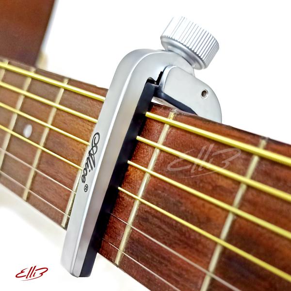 Capo Đàn Guitar Alice A007J (màu Bạc) - kẹp tăng tông guitar làm bằng hợp kim cho guitar acoustic, classic
