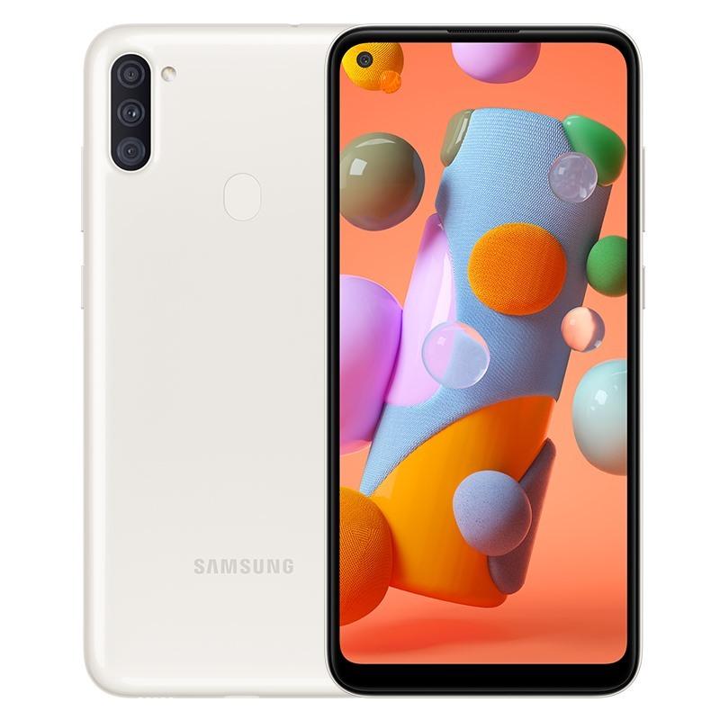 Điện thoại Samsung Galaxy A11 3GB/32GB, chính hãng, MỚI 100%, Màn hình lớn 6.4 inches, HD +, Camera trước 8 MP, F/2.0, Camera sau Chính 13 MP & Phụ 5 MP, 2 MP, Sở hữu chip Snapdragon 450 8 nhân, Pin 4000mAh