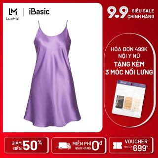 Đầm ngủ nữ lụa satin ngọt ngào quyến rũ iBasic 7916 thumbnail