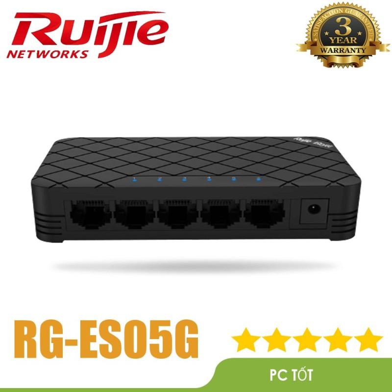 Bảng giá SWITCH Ruijie RG-ES05G ( 5-Port Gigabit unmanaged Switch, 5 Gigabit RJ45 Ports ) - Mai Hoàng phân pối Phong Vũ