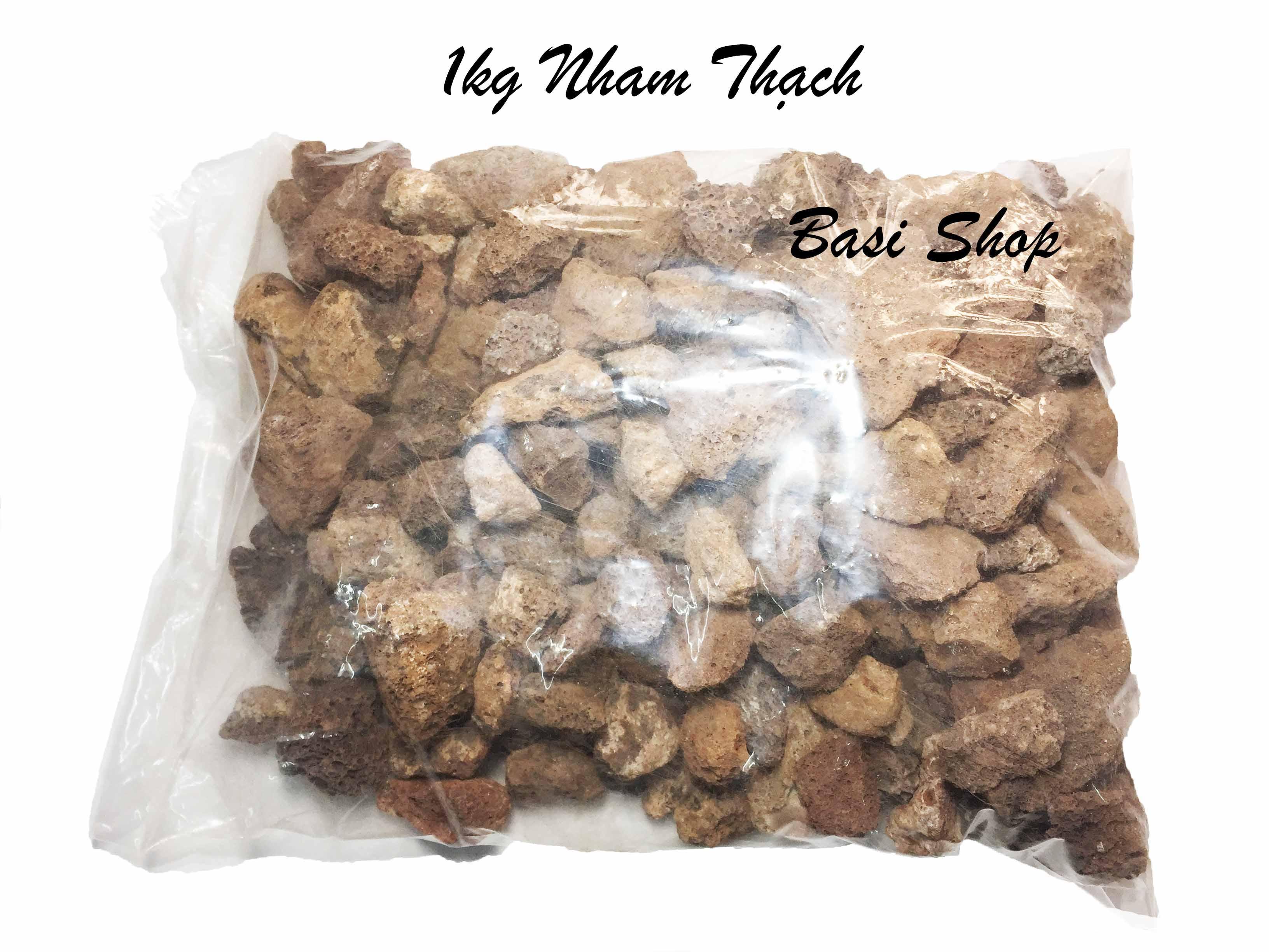 [Vật Liệu Lọc] 1kg Đá Nham Thạch Viên Nhỏ - Vật Liệu Lọc Nham Thạch Size Nhỏ