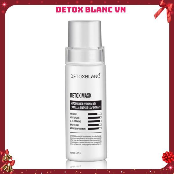 Mặt nạ thải độc trắng da công nghệ than hoạt tính Detox Mask-Detox Blanc
