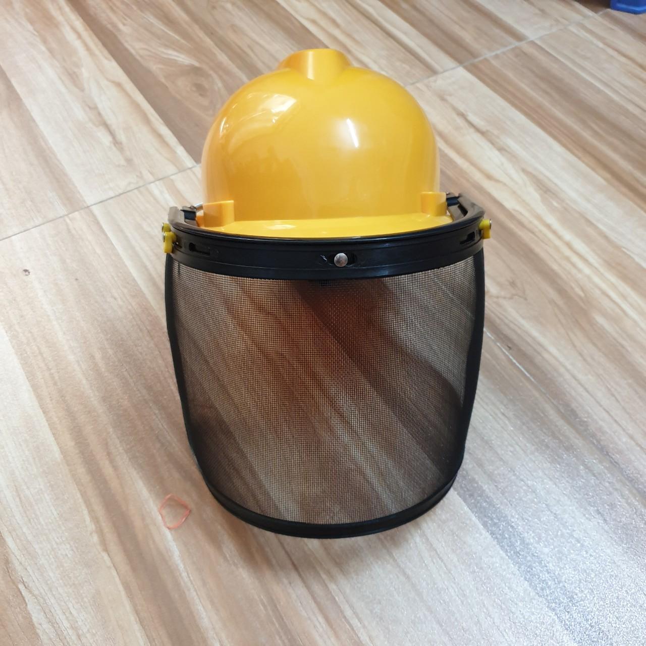 Mũ bảo hộ cả đầu cắt cỏ, vệ sinh môi trường