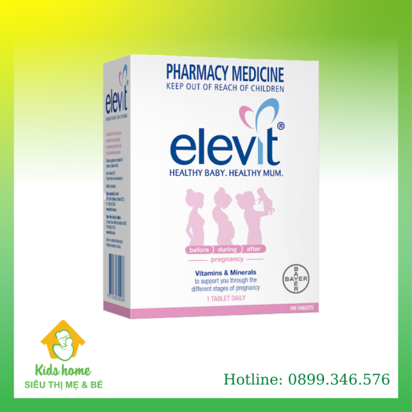 Viên uống Elevit dành cho phụ nữ trước, trong thời kì mang thai và sau khi sinh nhập khẩu