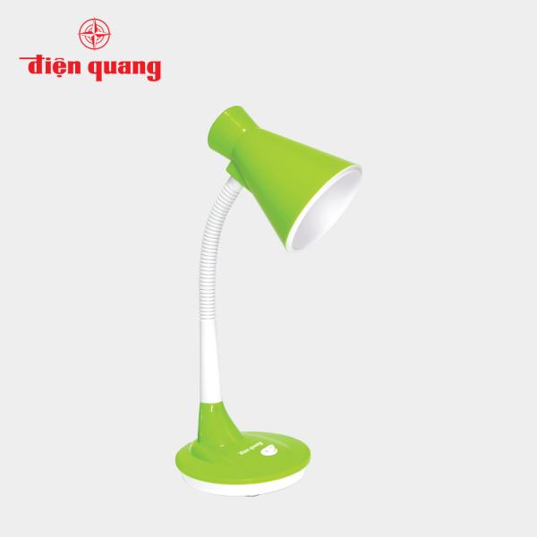 Đèn bàn Điện Quang ĐQ DKL08 GW L (kiểu chóa nhựa, xanh lá-trắng, bóng led)