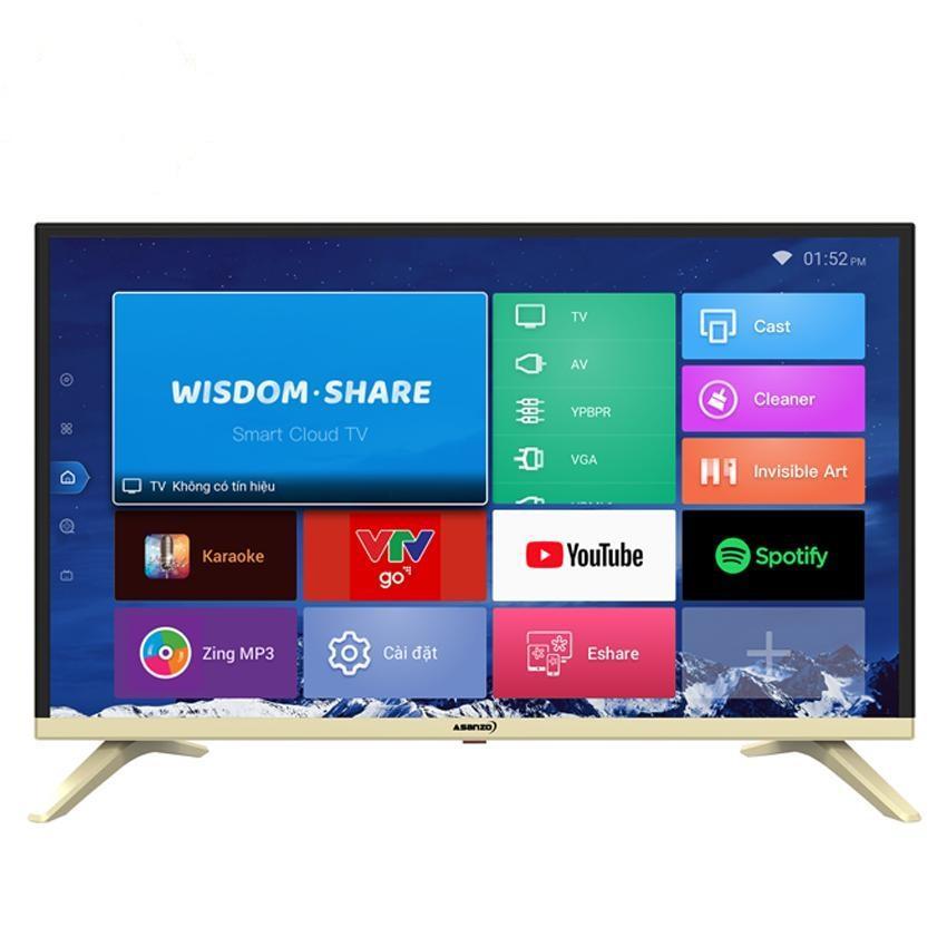 Smart TV Asanzo 32VS10 32 inch (HD ready, tích hợp kỹ thuật số, kết nôi Wifi, Điều khiển bằng giọng nói, Android 7.0, tặng remote thông minh, USB & list nhạc 12,000 bài)