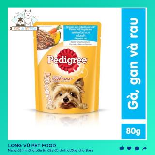 Pate Pedigree cho chó vị gà và rau củ 80g - Long Vũ Pet Food thumbnail