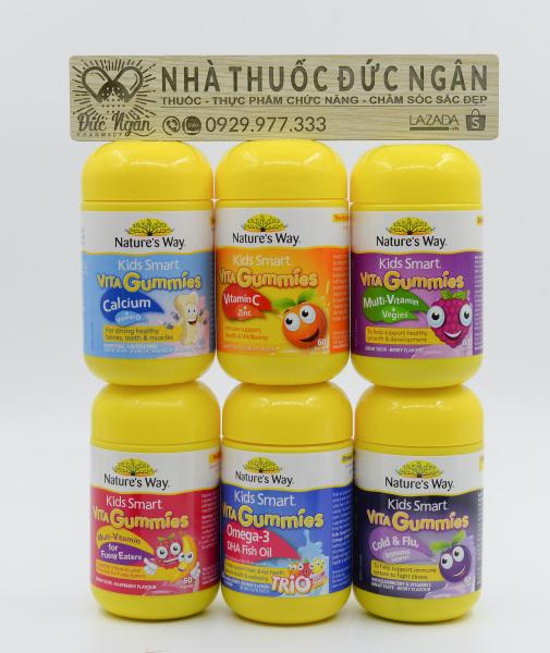 Vita Gummies NatureS Way [Úc] Kẹo Gôm Bổ Sung Vitamin Cho Bé - 60 Viên 120 Viên Gummies - Nhiều Vị giá rẻ