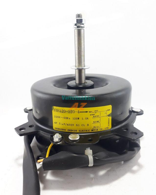 Motor quạt hơi nước tem vàng 220V-120W, ĐK trục 12mm, chiều ngược