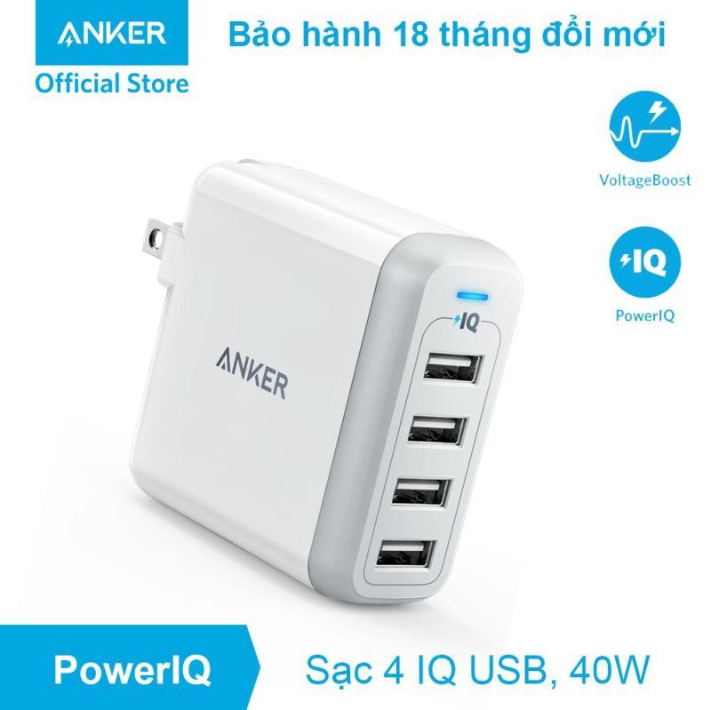 Sạc ANKER PowerPort 4 cổng 40w có PowerIQ - A2142