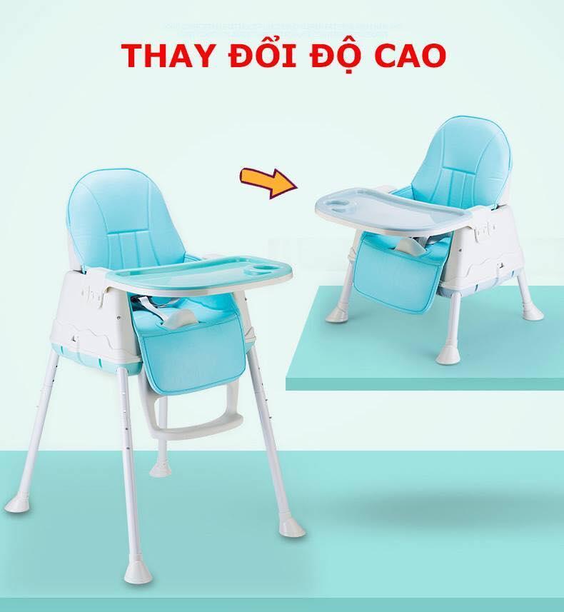 Ghế ăn Dặm Hanbei Full MÀu CÓ ĐỆm VÀ BÁnh Xe By Shopduongminh.