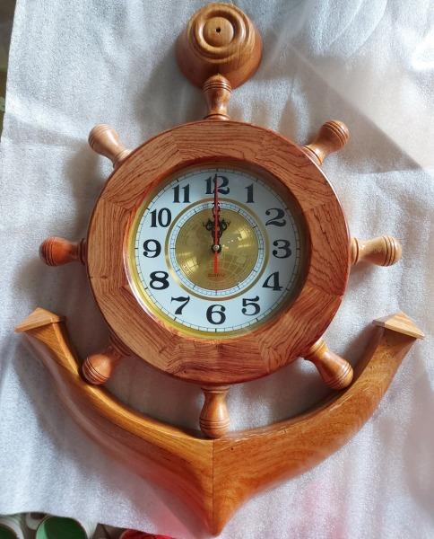 Đồng hồ hình mỏ neo gỗ cẩm - Kích thước: 50cm-60cm-70cm-80cm bán chạy