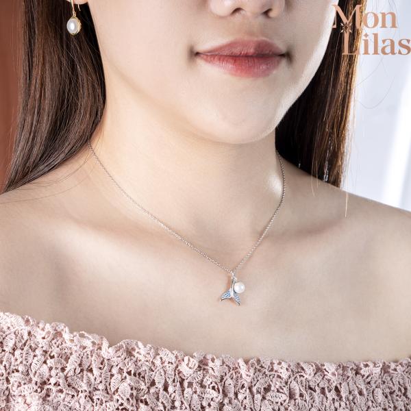 Dây chuyền bạc hình đuôi cá thời trang D0420009 - Trang sức Mon Lilas