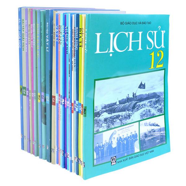 Bộ sách giáo khoa lớp 12 + Sách bài tập lớp 12 ( gồm 23 quyển) - không sách tiếng anh