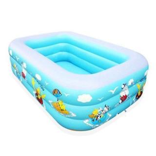 Bể bơi phao trong nhà, bể bơi bơm hơi, bể bơi gấp gọn - Hàng nhẩu nội địa chất lượng cao mẫu 150cm thumbnail