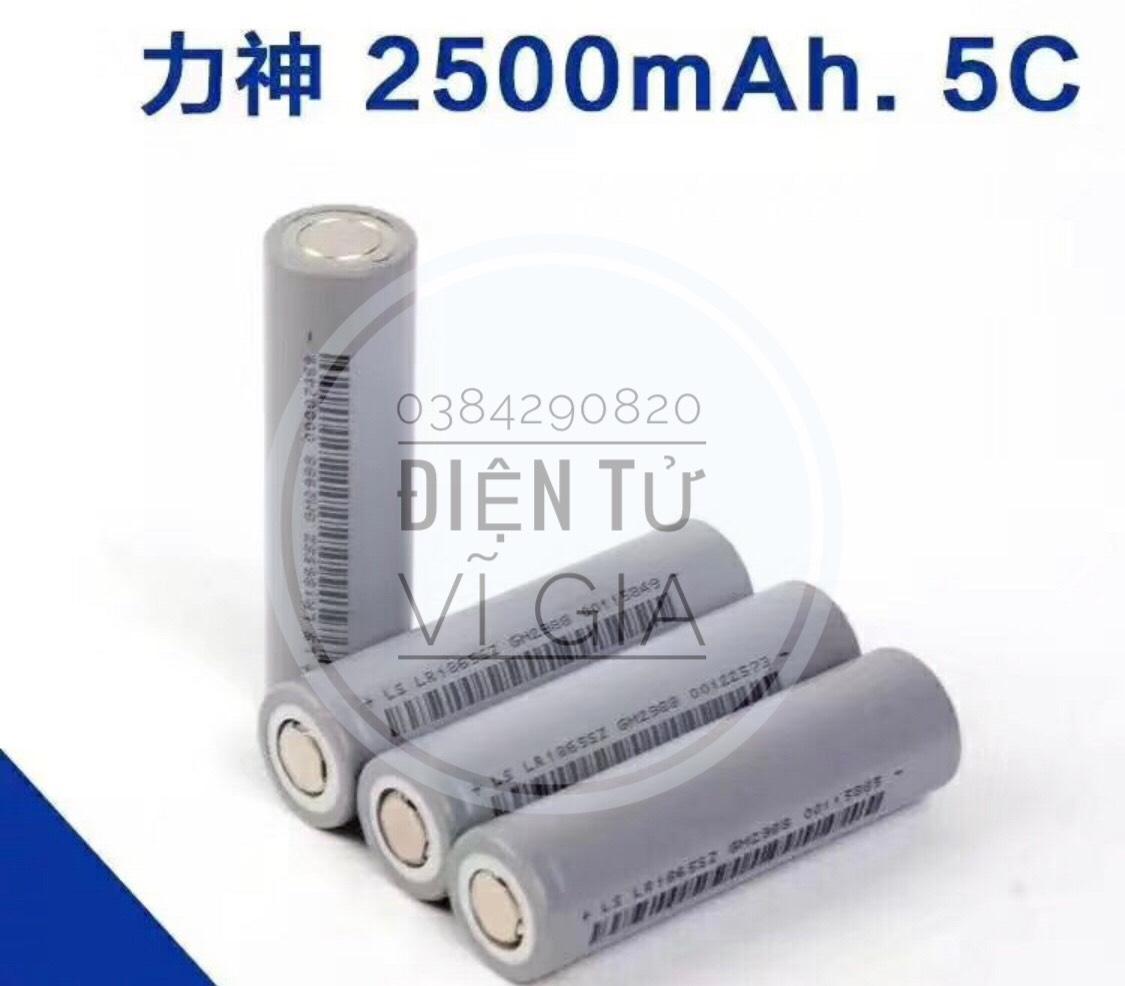Pin sạc 18650 cell lishen xám 18650 new Dung lượng 2500mAh xả 5C